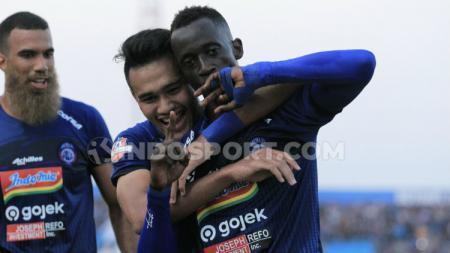 Makan Konate dkk menjadikan Arema FC tim dengan produktivitas gol tinggi. - INDOSPORT