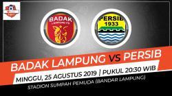 Pertandingan Badak Lampung vs Persib Bandung.