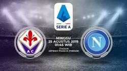 Pertandingan Fiorentina vs Napoli.
