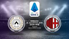 Indosport - Pertandingan Udinese vs AC Milan.