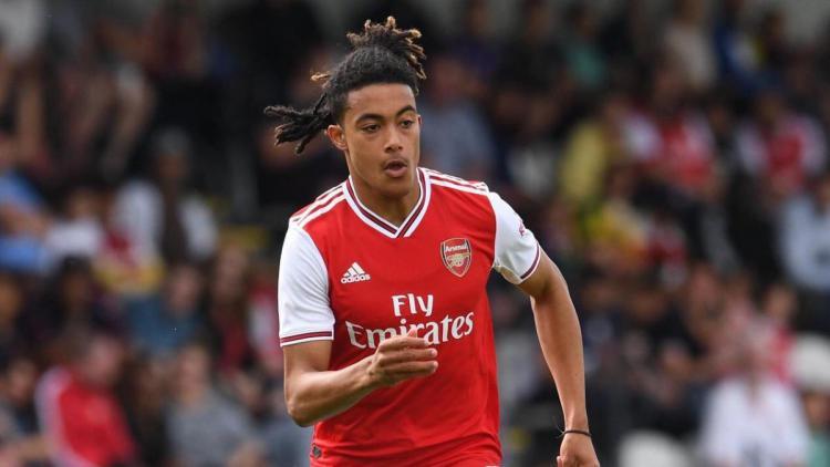 Miguel Azeez saat tampil bersama Arsenal beberapa waktu lalu. Copyright: Getty Images