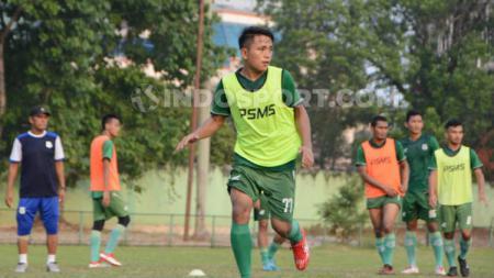 Pemain muda PSMS Medan, Natanael Siringoringo. (Foto: Aldi Aulia Anwar/INDOSPORT) - INDOSPORT