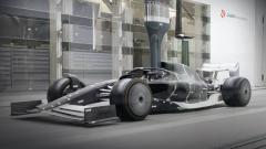 Indosport - Konsep mobil balap Formula 1 untuk musim 2021.