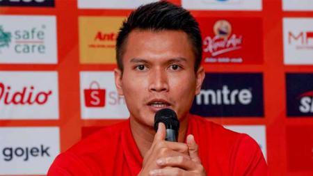Kiper klub Liga 1 Persija Jakarta, Shahar Ginanjar, mengambil hikmah di balin penyebaran virus Corona. - INDOSPORT