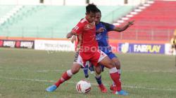 Suasana pertandingan antara Persis Solo vs Mitra Kukar, Jumat (23/08/2019).