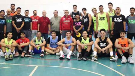 Tim nasional bola basket 3X3 putra Indonesia telah memanggil 15 pemain untuk diseleksi menuju SEA Games 2019 di Manila Philippines. - INDOSPORT