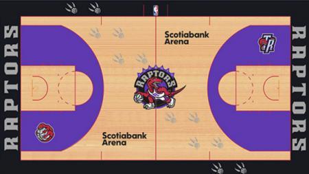 Desain lapangan baru Toronto Raptors yang bocor di internet. - INDOSPORT