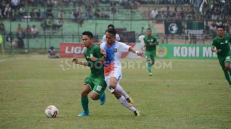 Laga pertandingan PSMS Medan vs PSPS Riau di Stadion Teladan, Medan, Sabtu (24/08/2019). - INDOSPORT