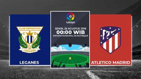 Prediksi pertandingan LaLiga Spanyol 2019/20 antara Leganes vs Atletico Madrid, Senin (26/08/19) dinihari WIB dari Stadion Butarque. - INDOSPORT