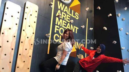Peraih medali emas Asian Games 2018, Puji Lestari, memiliki misi memopulerkan olahraga panjat dinding di Indonesia. Melalui acara Global Climbing Day, Sabtu (24/8/19). - INDOSPORT