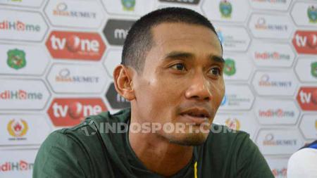 Pemain sekaligus kapten PSMS Medan, Legimin Raharjo. - INDOSPORT