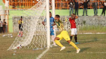 Selebrasi pemain Persip Pekalongan usai membobol gawang Persipa Pati. - INDOSPORT