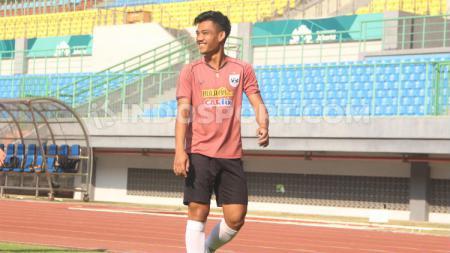 Tegar Infantrie saat melakukan latihan bersama PSIS Semarang. - INDOSPORT