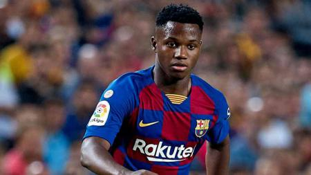 Ansu Fati striker muda Barcelona berusia 16 tahun. - INDOSPORT