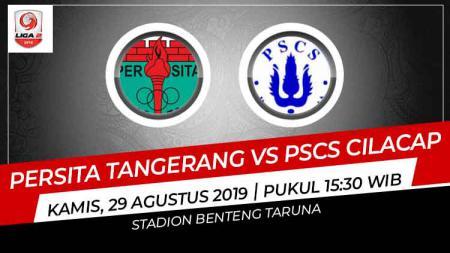 Prediksi pertandingan Persita Tangerang vs PSCS Cilacap pada pekan ke-13 Liga 2 2019, Kamis (29/08/19), di Stadion Sports Center Kelapa Dua. - INDOSPORT