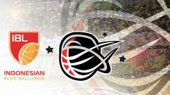 Indosport - Logo IBL dan logo Stapac Jakarta.