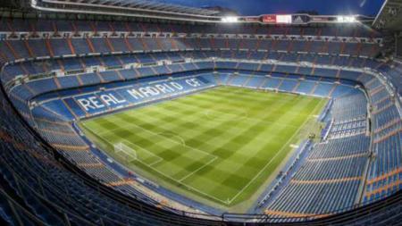 Stadion Santiago Bernabeu milik klub LaLiga Spanyol, Real Madrid. - INDOSPORT