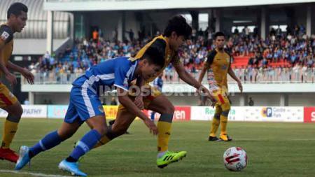 Situasi pertandingan PSIM Yogyakarta melawan Mitra Kukar di Liga 2 2019 pekan ke-13. - INDOSPORT