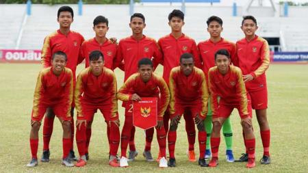 Starting Eleven Timnas Indonesia U-15. - INDOSPORT