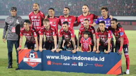 Skuat Bali United di Stadion Kapten I Wayan Dipta, Gianyar pada ajang Liga 1 2019. - INDOSPORT