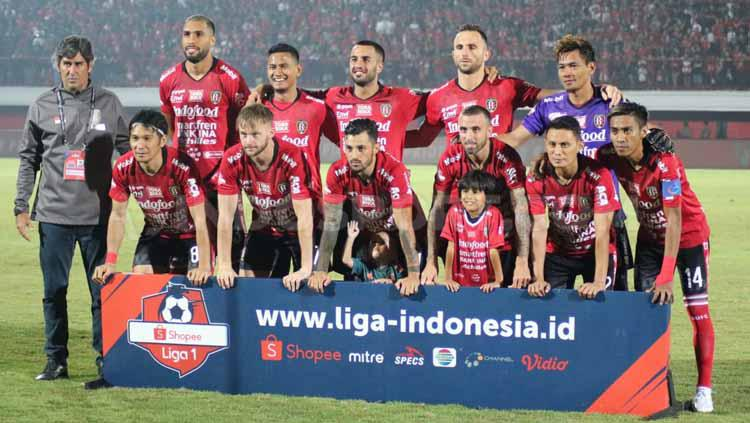 Skuat Bali United di Stadion Kapten I Wayan Dipta, Gianyar pada ajang Liga 1 2019. Copyright: Nofik Lukman Hakim/INDOSPORT