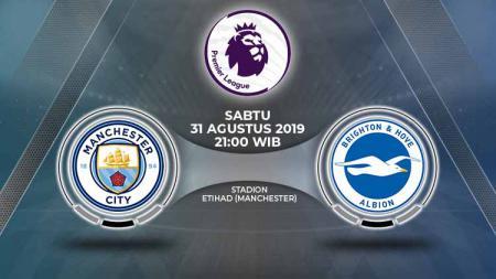 Prediksi pertandingan Manchester City vs Brighton & Hove Albion pada pekan ke-4 Liga Inggris, Sabtu (31/08/19), di Etihad Stadium. - INDOSPORT