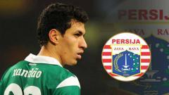 Indosport - Alexandre Xandao saat berseragam Sporting Lisbon dan logo Persija Jakarta,