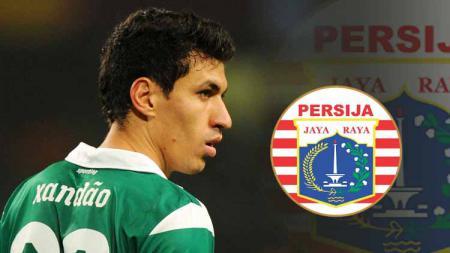 Alexandre Xandao saat berseragam Sporting Lisbon dan logo Persija Jakarta. - INDOSPORT