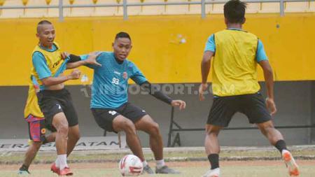 Sriwijaya FC saat jalani latihan. - INDOSPORT