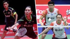 Indosport - Praveen Jordan/Melati Daeva Oktavianti dan Hafiz Faizal/Gloria Emanuelle Widjaja.