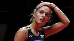 Indosport - Gabriela Stoeva di ajang HSBC BWF World Tour Finals 2018.