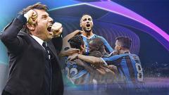 Indosport - Si David yang tak gentar hadapi Goliath Grup F Liga Champions. Foto: Claudio Villa - Inter/Inter via Getty Images