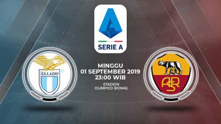 Pertandingan Lazio vs AS Roma. - INDOSPORT