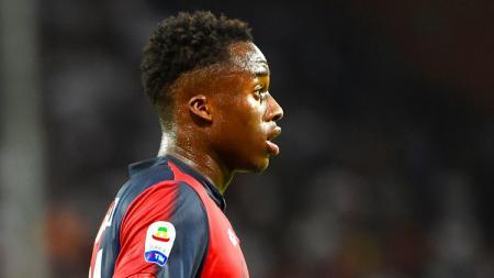 Penyerang muda Genoa, Christian Kouame yang kini diincar oleh AC Milan di bursa transfer 2019. - INDOSPORT