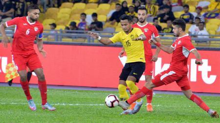 Timnas Malaysia beruji coba melawan Yordania di Stadion Nasional, Bukit Jalil, Jumat (30/8/2019). - INDOSPORT