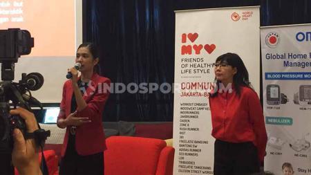 Mikha Tambayong hadir sebagai Duta Yayasan Jantung Indonesia, CoHive D.Lab Jakarta, Sabtu (31/08/19). - INDOSPORT
