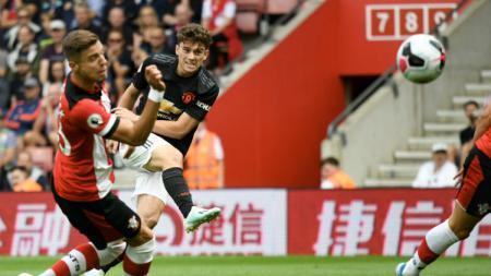 Daniel James buka keunggulan Manchester United atas Southampton, Sabtu (31/8/19). - INDOSPORT