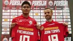 Indosport - 2 Pemain baru Persija Jakarta, Joan Tomas Campasol dan Fachrudin Aryanto.