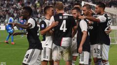 Indosport - Skuat Juventus merayakan gol ke gawang Napoli dalam laga pekan ke-2 Serie A Italia, Minggu (01/09/19) dini hari WIB.