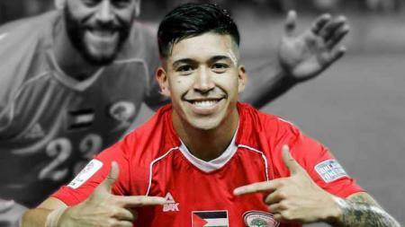 Jonathan Cantillana gelandang timnas Palestina yang kini berseragam PSIS Semarang menjelang Liga 1 2020. - INDOSPORT