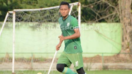Striker PSMS Medan, Tri Handoko. (Foto: Aldi Aulia Anwar/INDOSPORT) - INDOSPORT