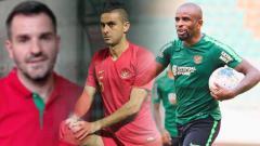Indosport - Simon McMenemy, Otavio Dutra, dan Greg Nwokolo.