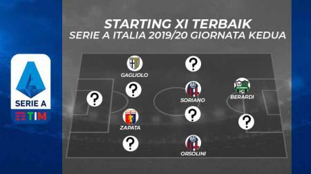 Starting XI Terbaik Serie A Italia 2019/20 Giornata Kedua. - INDOSPORT