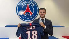 Indosport - Mauro Icardi resmi ke Paris Saint-Germain.
