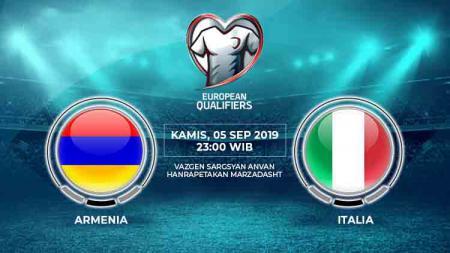 Prediksi pertandingan Armenia vs Italia pada pertandingan ke-5 Grup J Kualifikasi Euro 2020, Kamis (05/09/19) pukul 23.00 WIB, di Hanrapetakan Stadium. - INDOSPORT