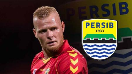Thomas Verheydt dan logo Persib Bandung - INDOSPORT