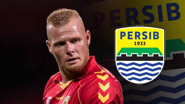 Thomas Verheydt dan logo Persib Bandung Copyright: VI Images via Getty Images