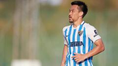 Indosport - Shinji Okazaki saat membela Malaga di laga pra-musim