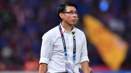 Pelatih Malaysia, Tan Cheng Hoe, ikut memantau perkembangan Timnas Indonesia di Kualifikasi Piala Dunia 2022. - INDOSPORT