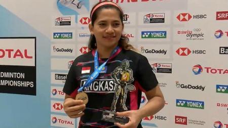 Leani Ratri Oktila, atlet para bulutangkis Indonesia. - INDOSPORT